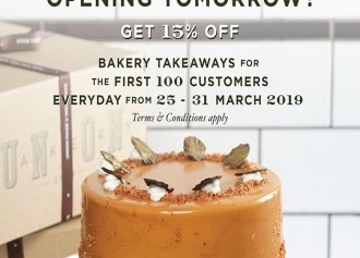 15% OFF for Bakery Takeaways