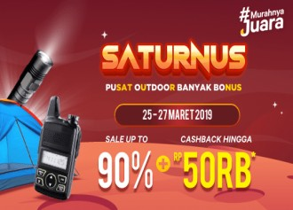 Sale up to 90% + Cashback hingga Rp 50Rb!