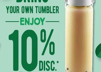 Bring Tumbler, Enjoy 10%