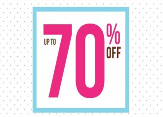 Disc. Up To 70% + Add. Disc. Up To 10%