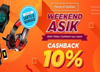 Murahnya Juara Cashback 10% Setiap Sabtu & Minggu