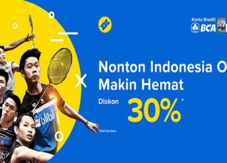 30% Off Tiket Indonesia Open