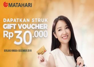 Dapatkan Gift Voucher Rp 30.000