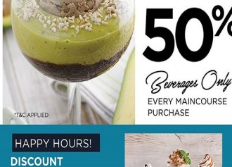 50% Off & Happy Hour Promo
