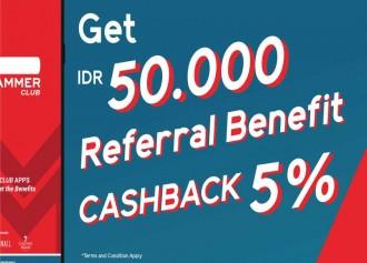 Get IDR 50.000 & Cashback 5%