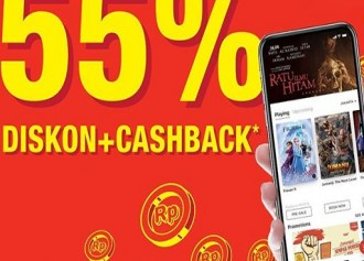 Diskon 55% + Cashback