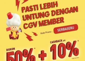 50% + Cashback 10%