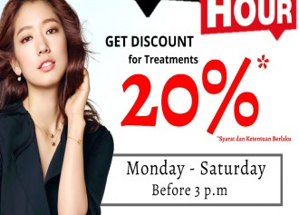 Happy Hour: Diskon 20% Off