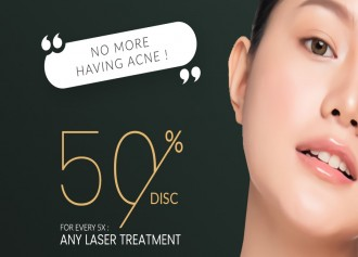 50% Off for 5X Laser Treatment