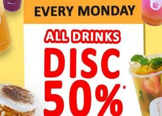 50% Off Minuman Kedua Tiap Senin