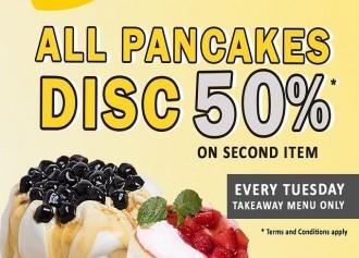 50% Off Pancake Kedua Tiap Selasa