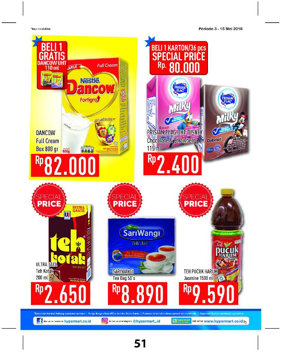 Katalog Hypermart 3 May 15 Dancow 1 Madu 800gr Type To Search Item In This Catalogue