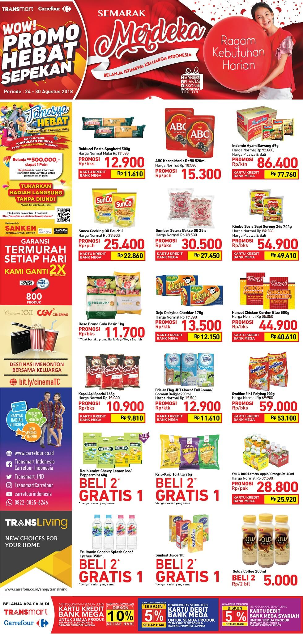 Katalog Carrefour 24 Aug 26 Kecap Manis Abc Reffill 520ml Type To Search Item In This Catalogue