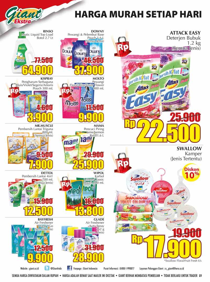 Katalog Giant 23 Oct 1 Nov Voucher Rp 500 000 Type To Search Item In This Catalogue