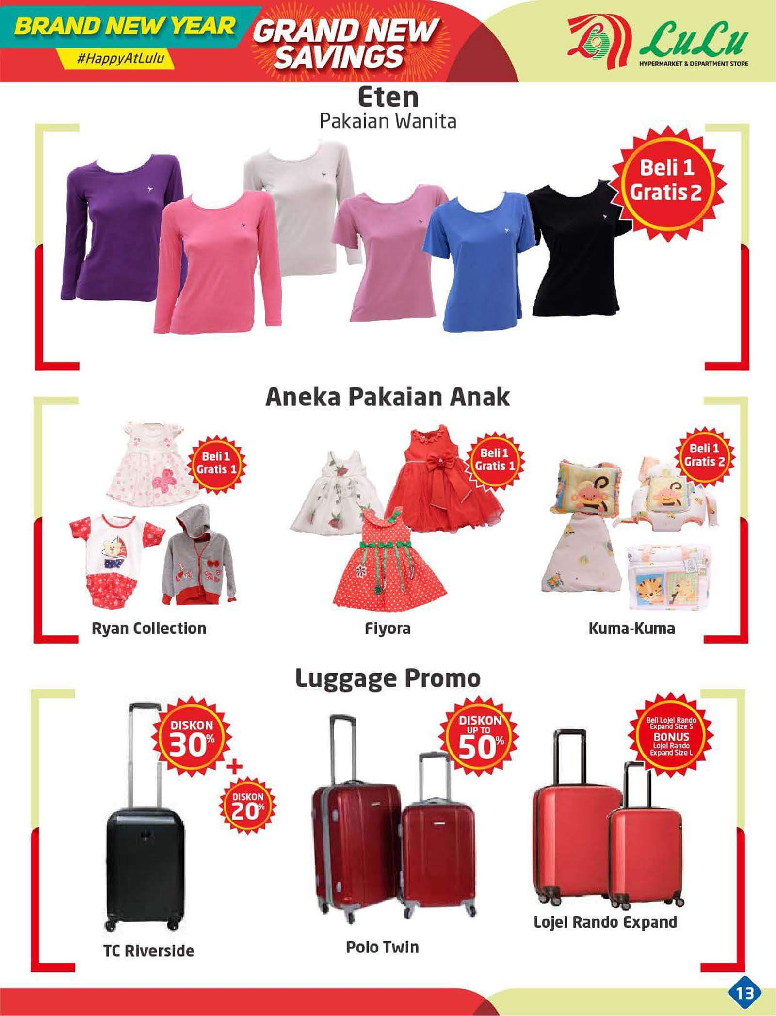 Katalog Lulu Hypermarket Department Store 30 Dec 8 Aneka Fashion Anak Type To Search Item In This Catalogue